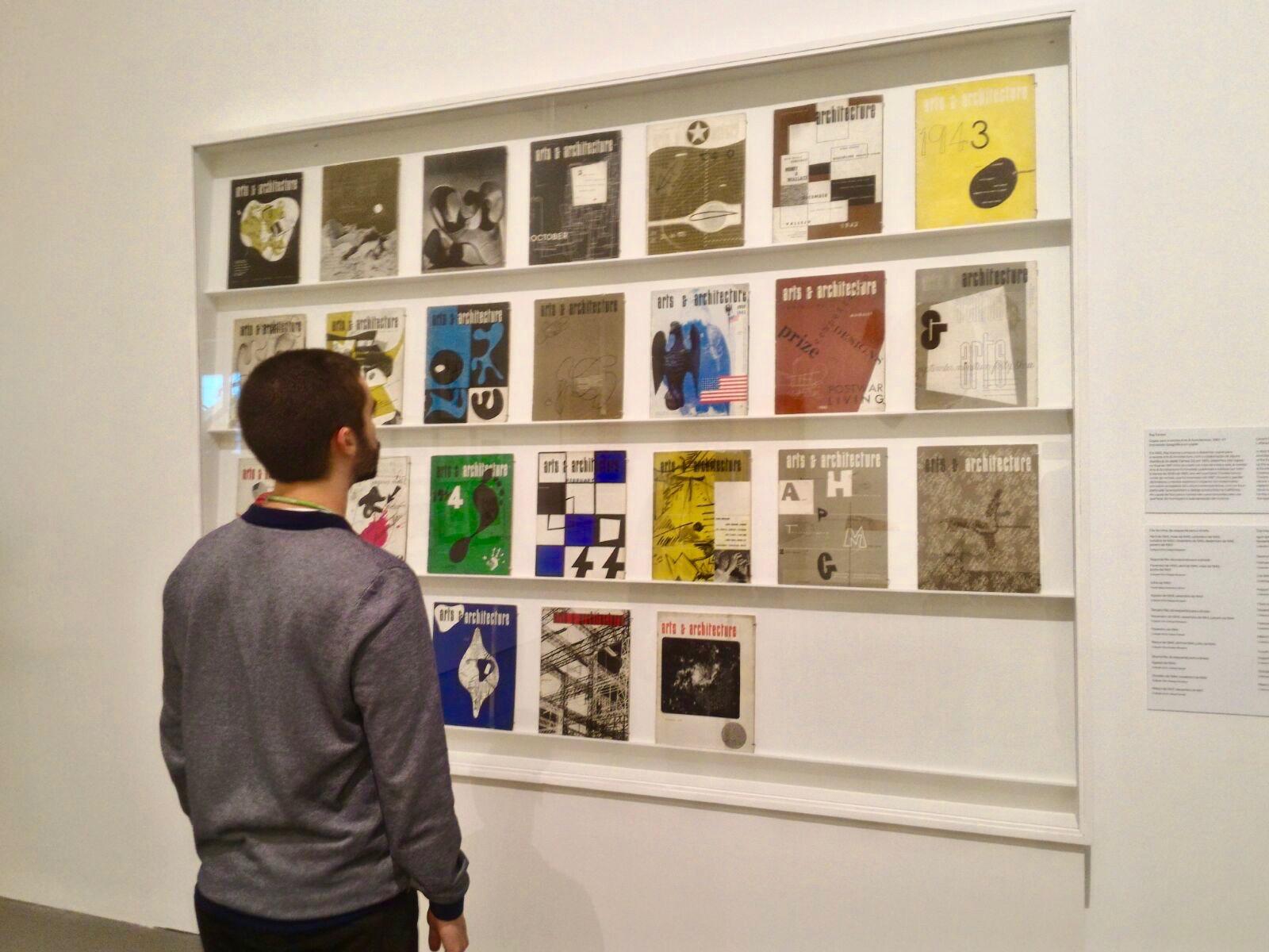 Diversas Capas da Revista Arts & Arquitecture, concebidas por Charles Eames. © Miguel Gonçalves