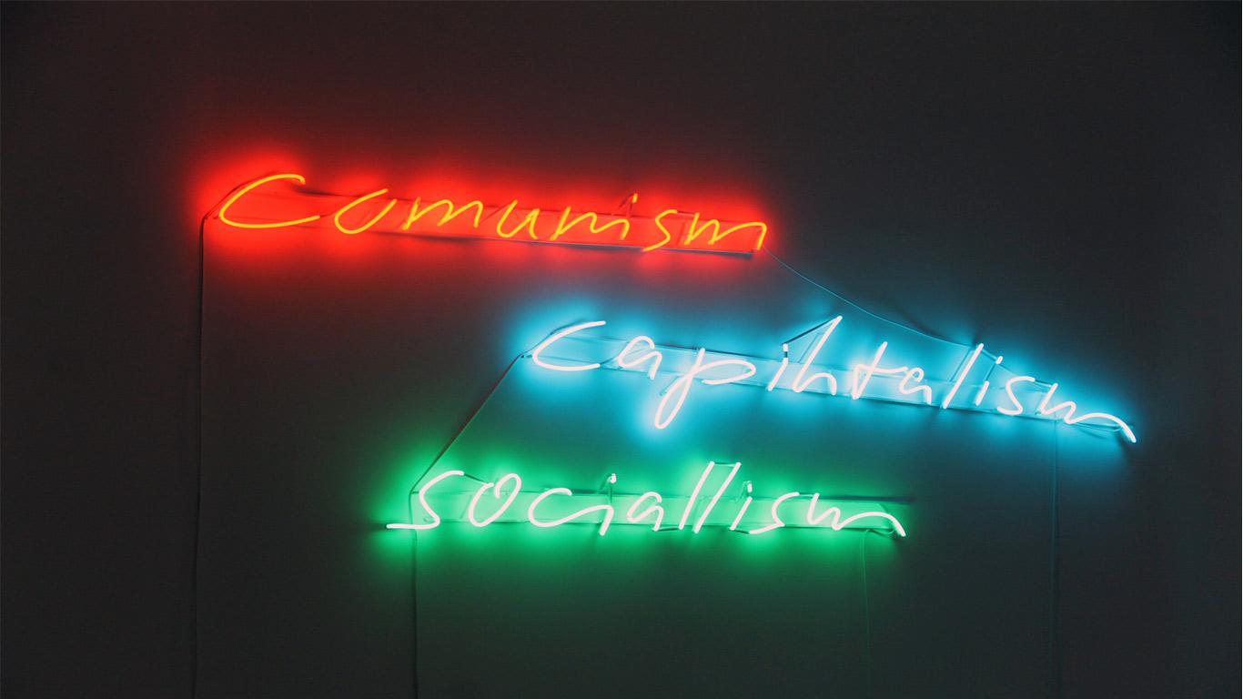 LED com três palavras importantes