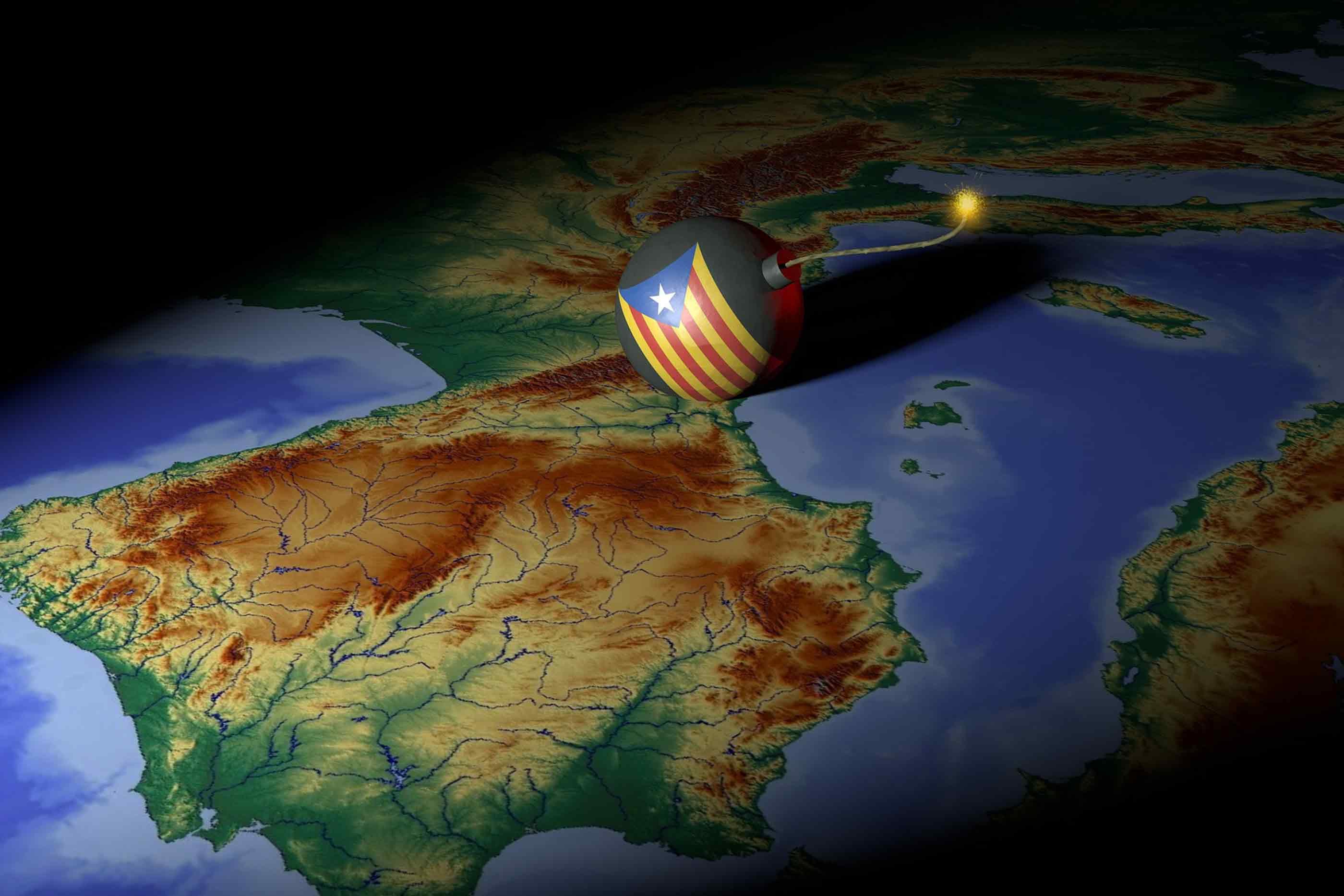 Representação animada da instabilidade política vivida em Espanha.