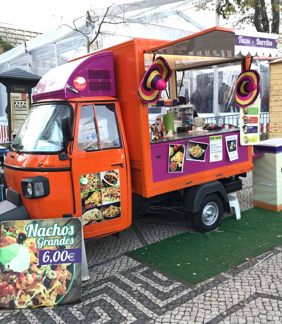 FoodTruck de comida mexicana que podemos encontra no Winter Wonderland de Lisboa.