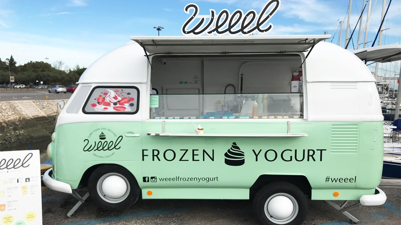 As FoodTrucks Weeel são iogurterias e não gelatarias.