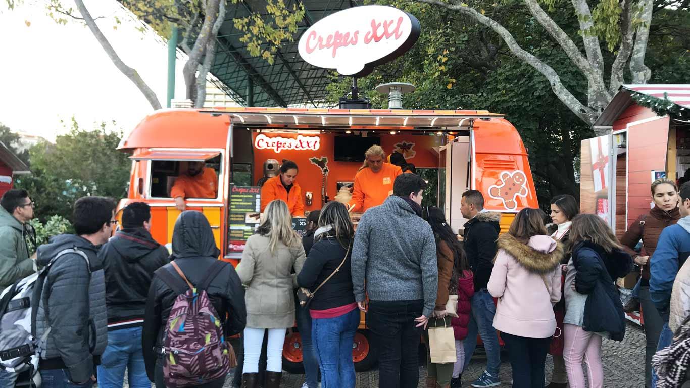Num passeio pela Winter Wonderland Lisboa, os Crepes XXL é uma das opções para os seus visitantes.