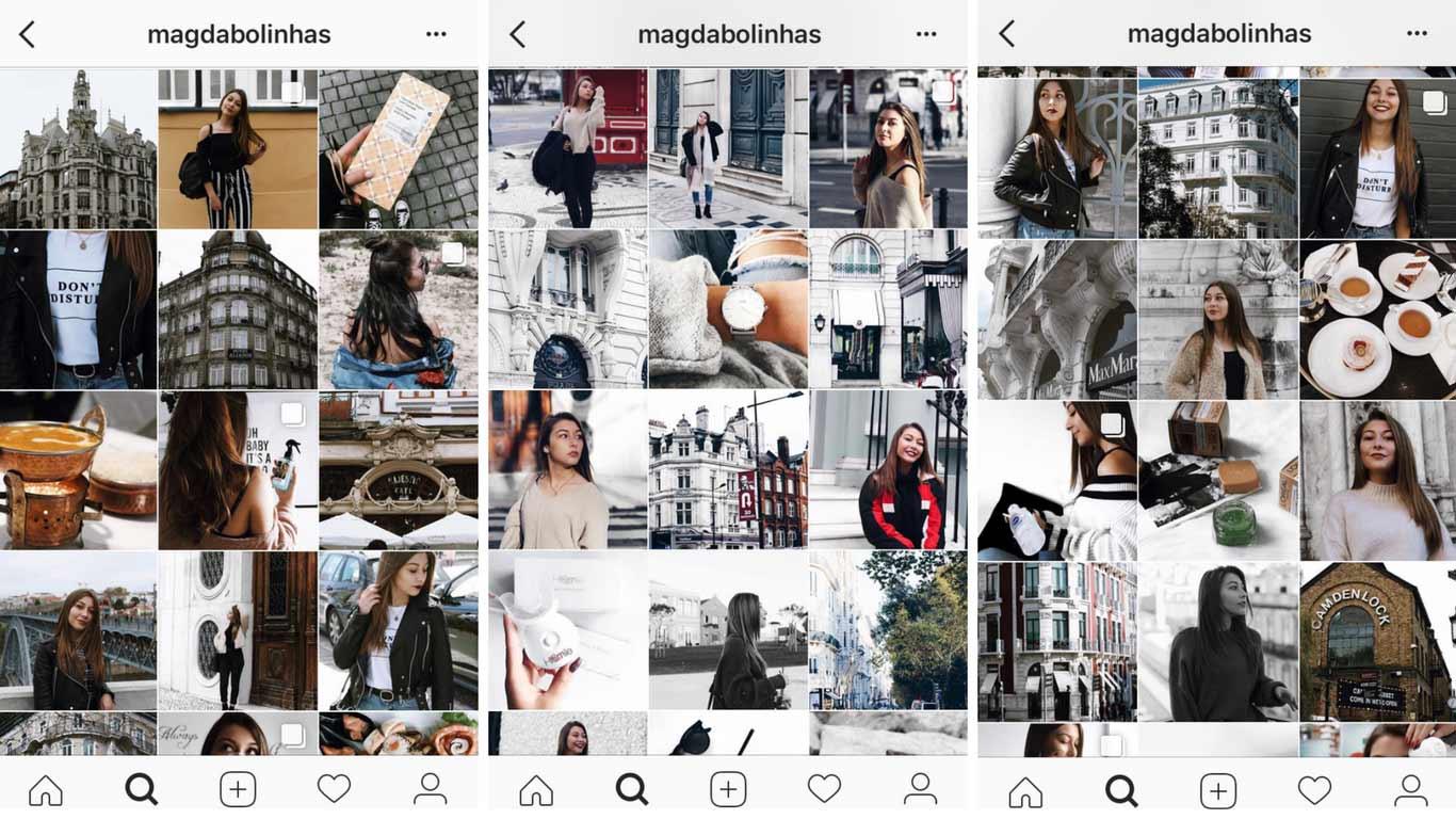 Print screen de instagrams