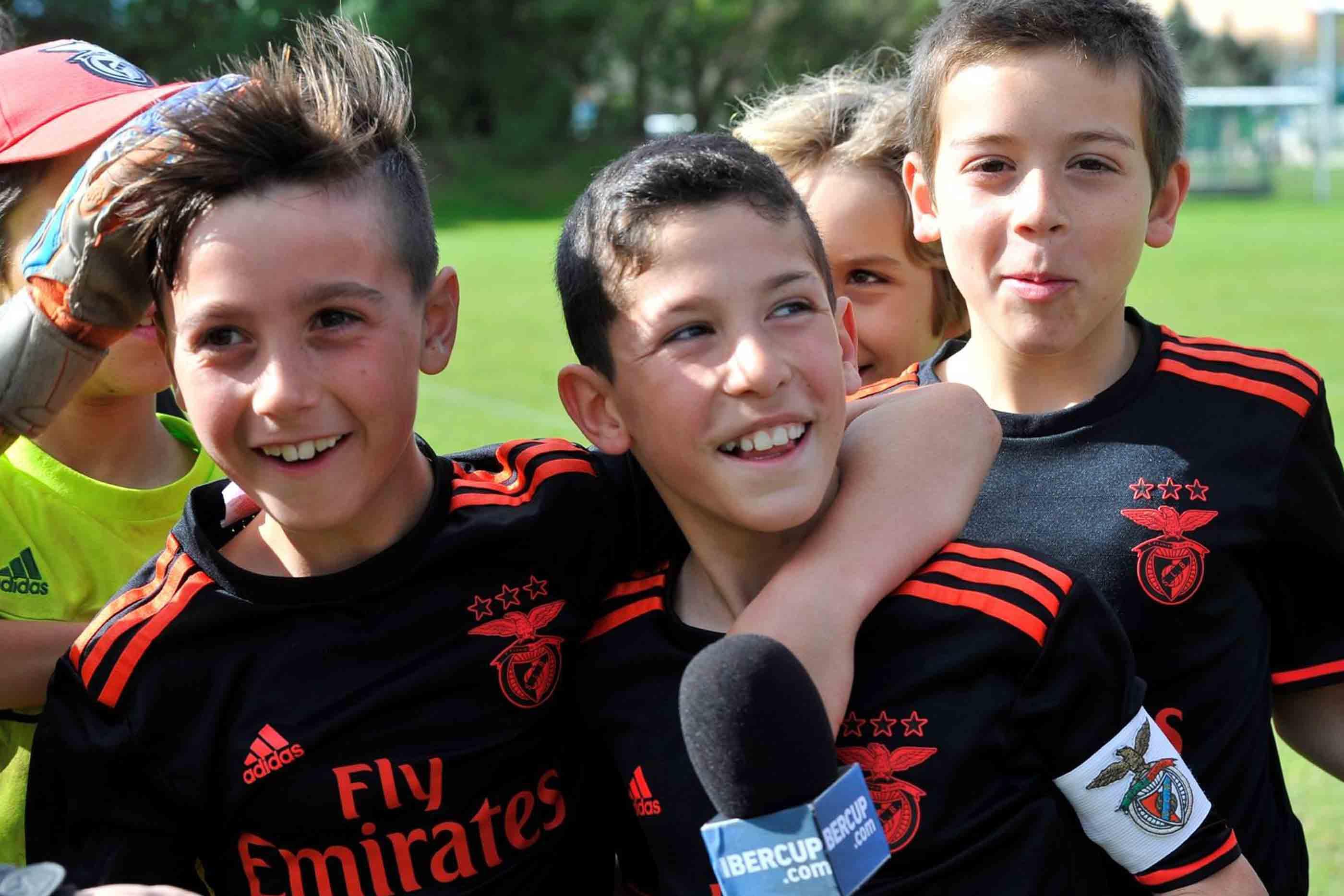 Festejos de jovens do SL Benfica.