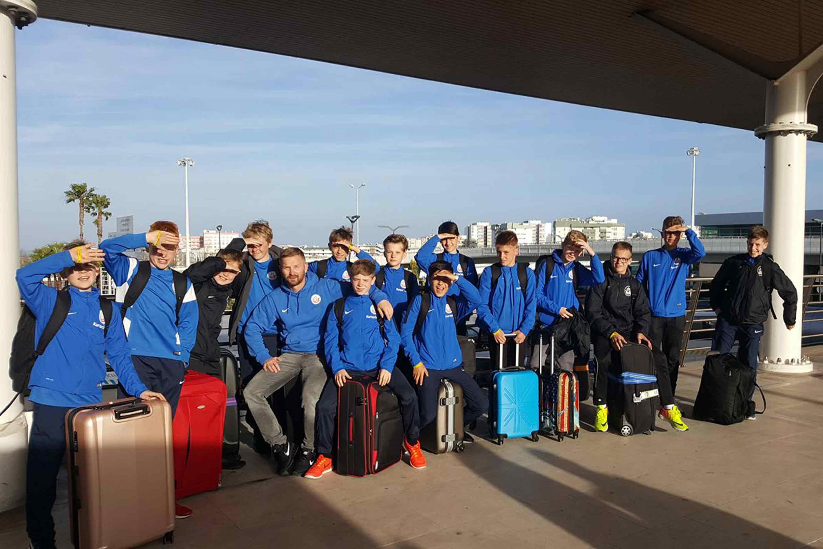 Hansa Rostock depois de participarem no torneio.