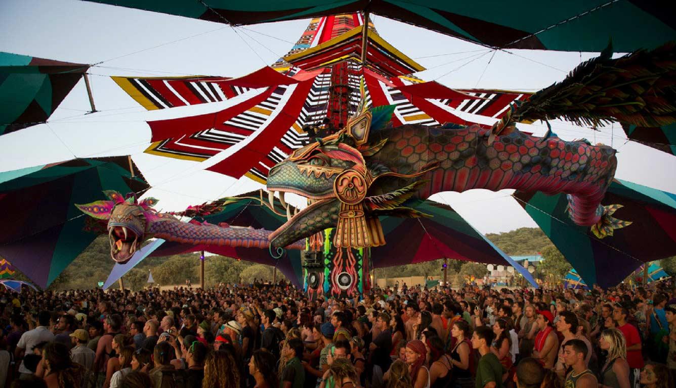Decoração do festival