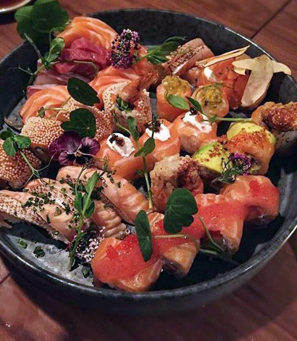 Combinado de peças no Sushi Café da Avenida da Liberdade.