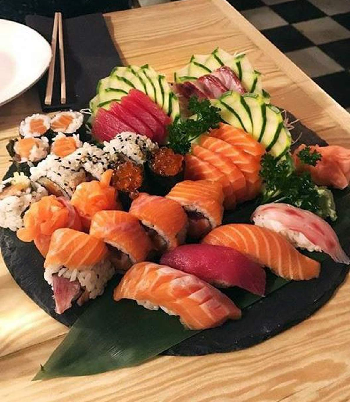 Menu de almoço do Sushi dos Sá Morais.