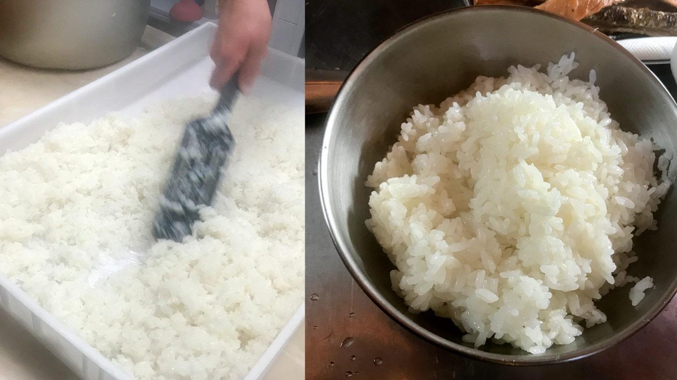 O arroz para sushi não é difícil de fazer em casa e também não demora muito tempo.