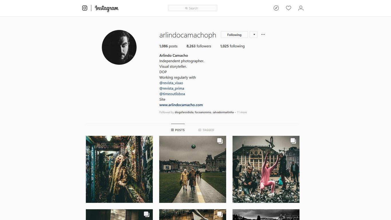 Portfólio online de Arlindo Camacho
