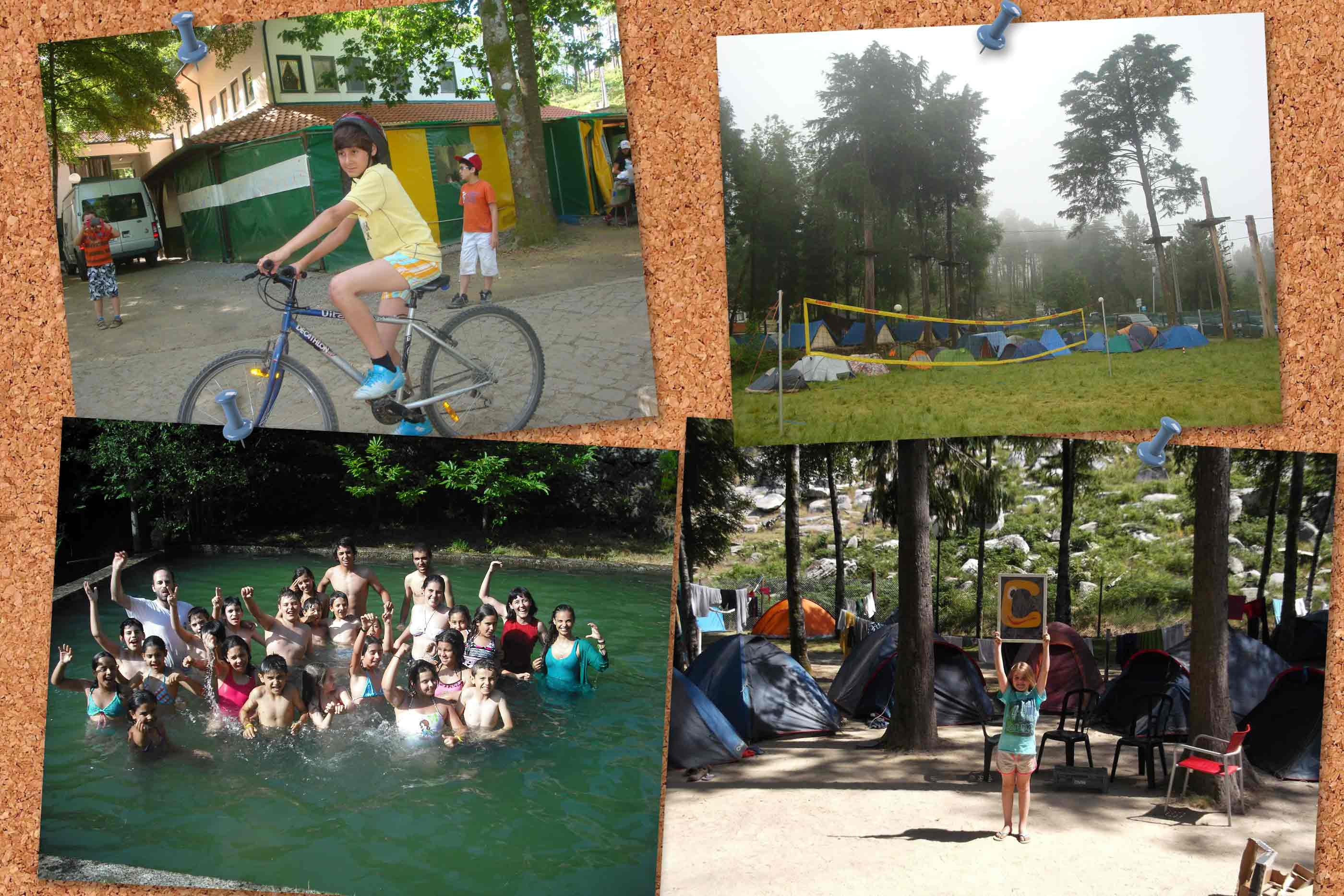 Actividades realizadas no exterior no Acampamento