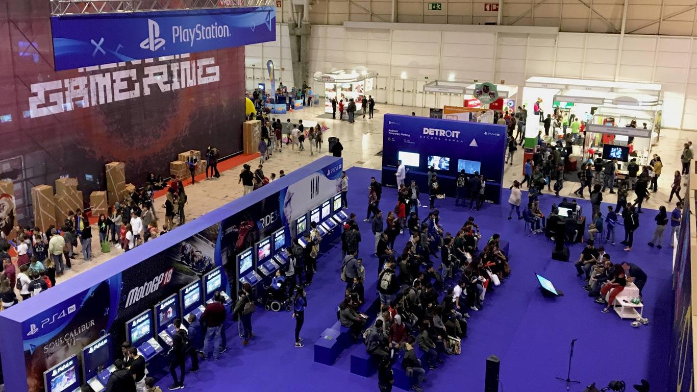 Marketing para jogos variados da consola.
