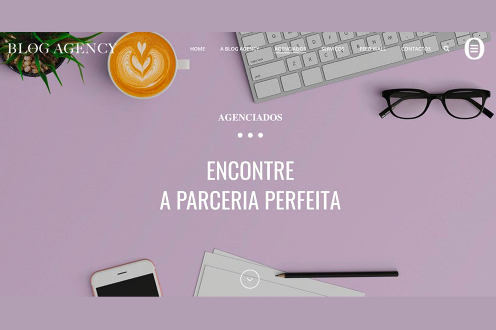 Print Screen do Site da Empresa Blog Agency