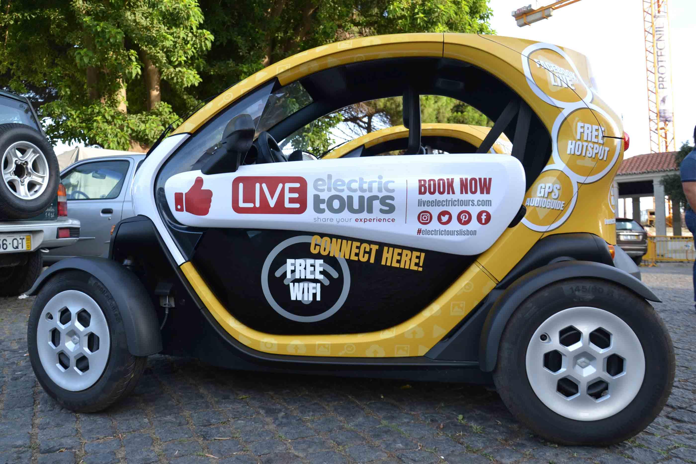Carro Elétrico Live Eletric Tours