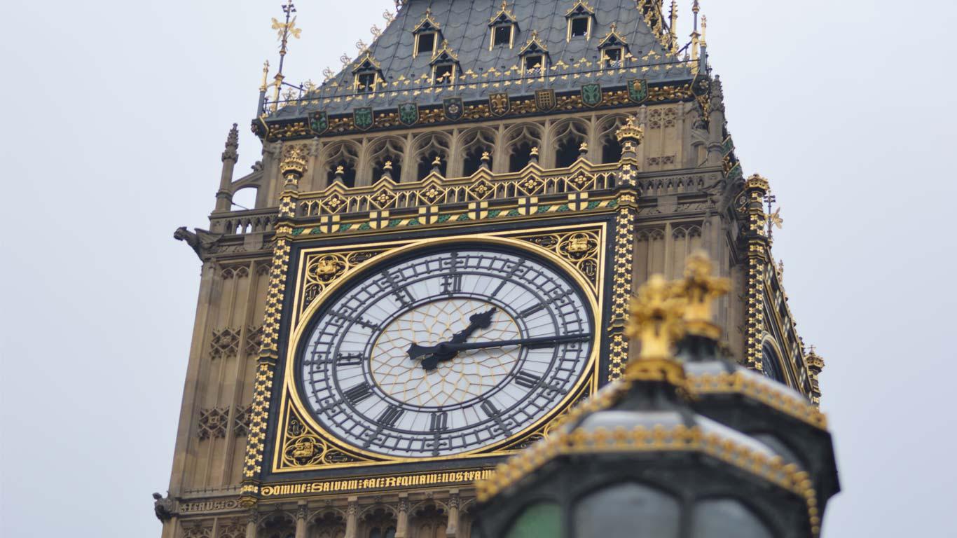 O grande relógio Bin Ben na Torre de Londres