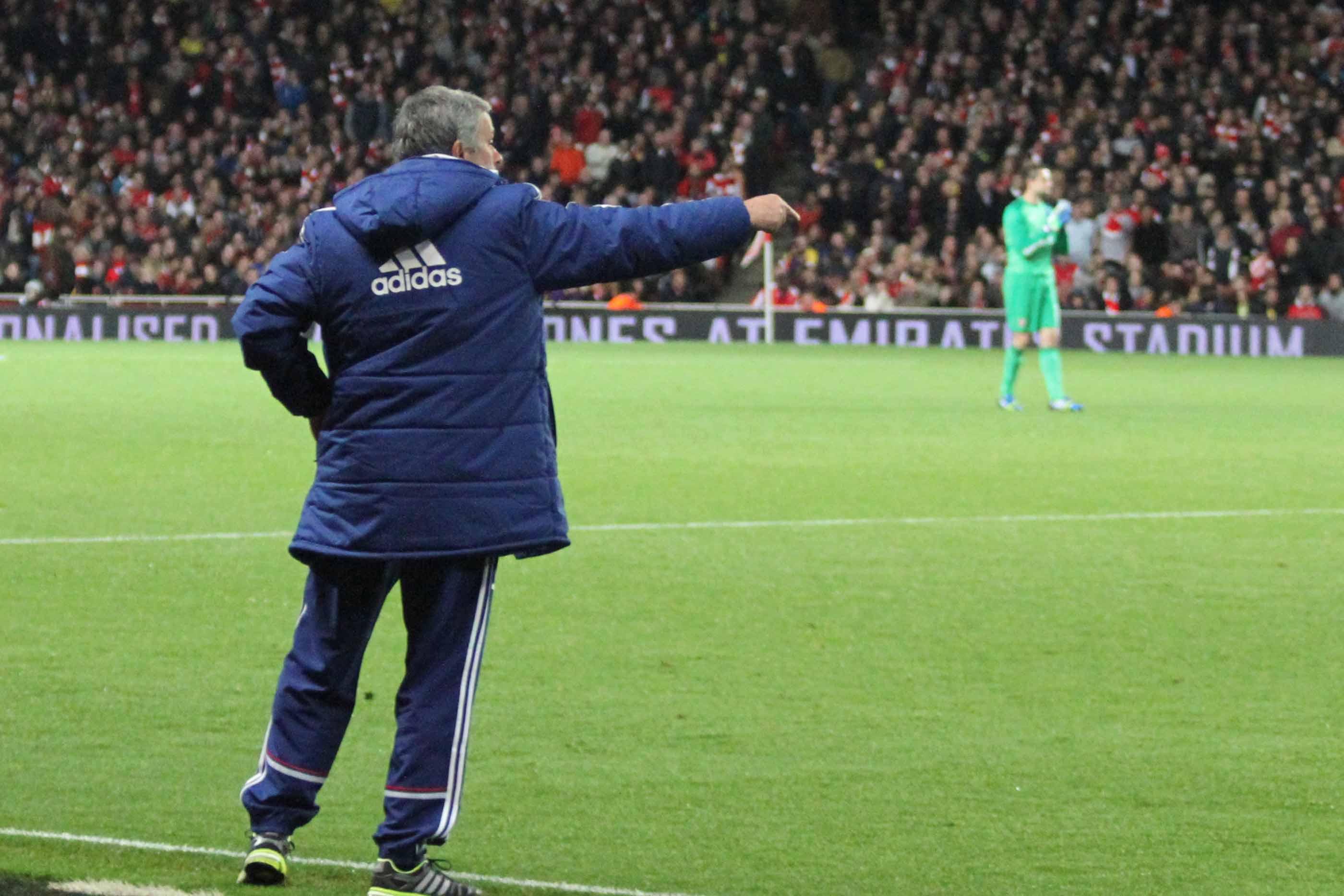 José Mourinho no campo
