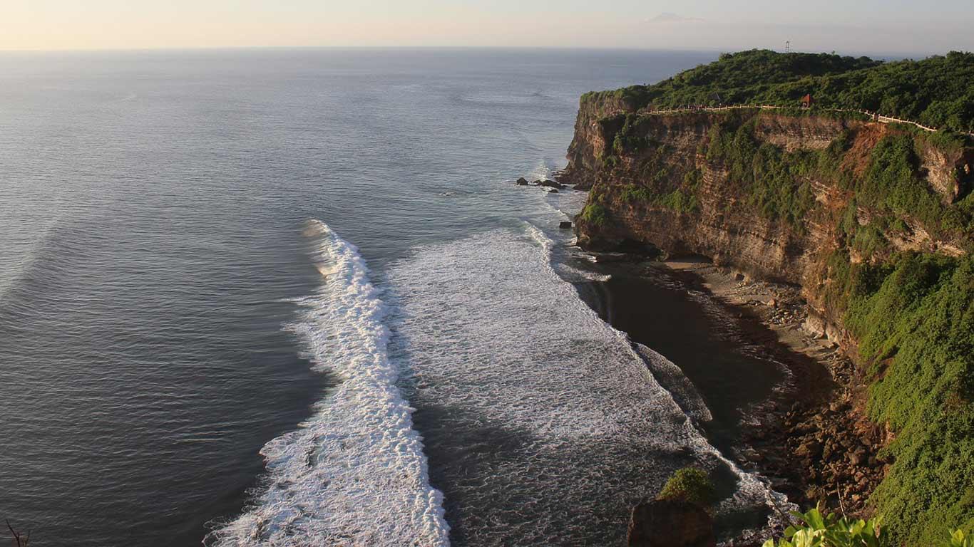 Vista aerea da pria de Uluwato