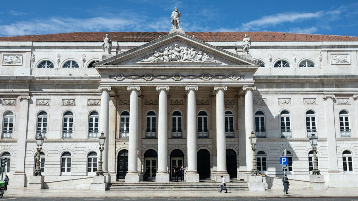 Fachada do Teatro D.Maria II