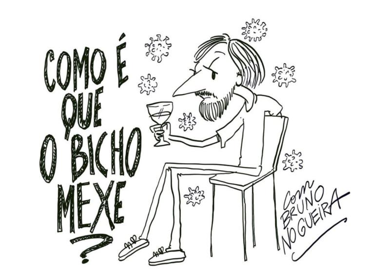 """Demonstração gráfica do """"live"""" de Bruno Nogueira"""""""