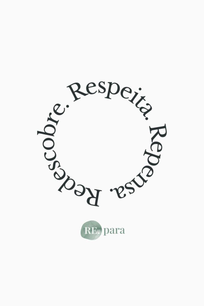 Logotipo da marca a representar a regra dos 3R´s, Redescobre, Respeita, Repensa